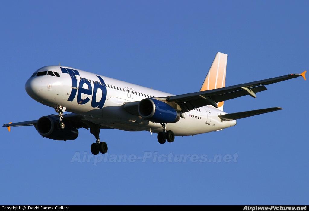 Ted N493UA aircraft at Las Vegas - McCarran Intl