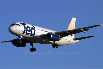 N493UA - Ted Airbus A320