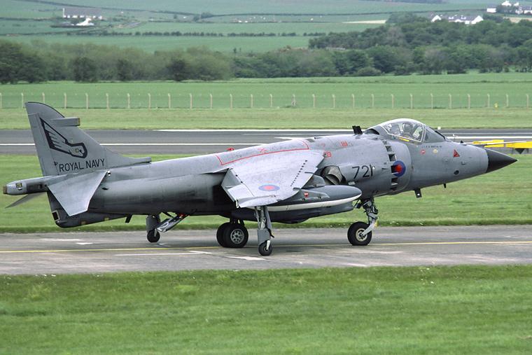 Royal Navy ZD581 aircraft at Prestwick
