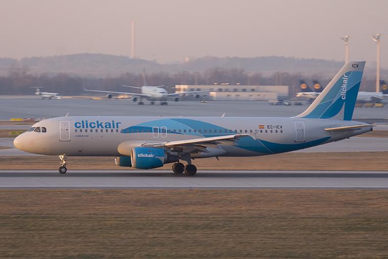 Clickair EC-ICV aircraft at Munich