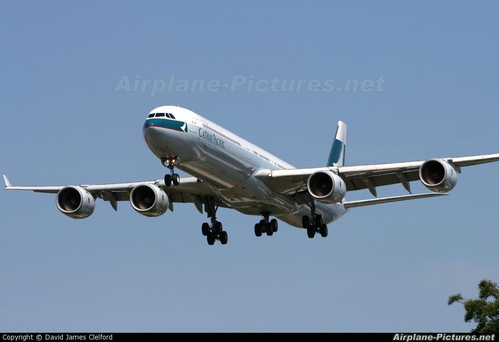 Cathay Pacific B-HQC aircraft at London - Heathrow