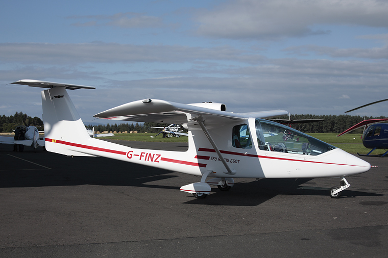 Private G-FINZ aircraft at Perth - Scone
