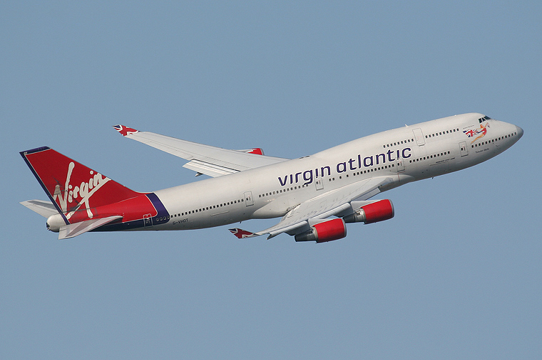 Virgin Atlantic G-VHOT aircraft at London - Heathrow