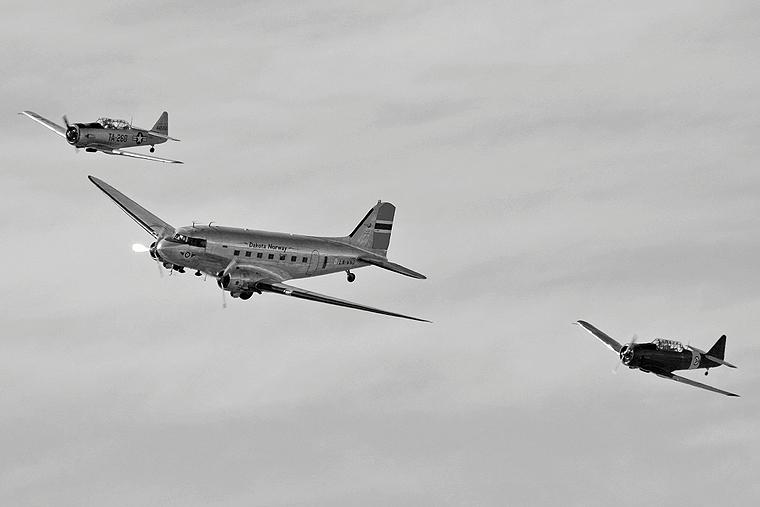 Dakota Norway LN-WND aircraft at Moss - Rygge