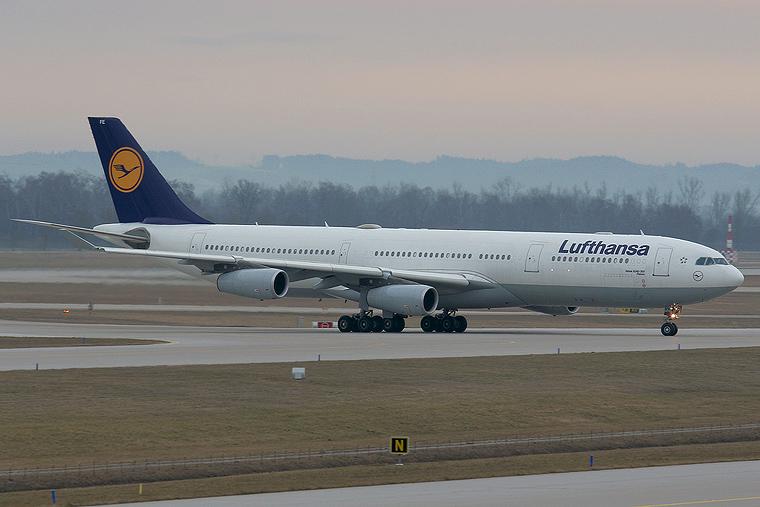 Lufthansa D-AIFE aircraft at Munich