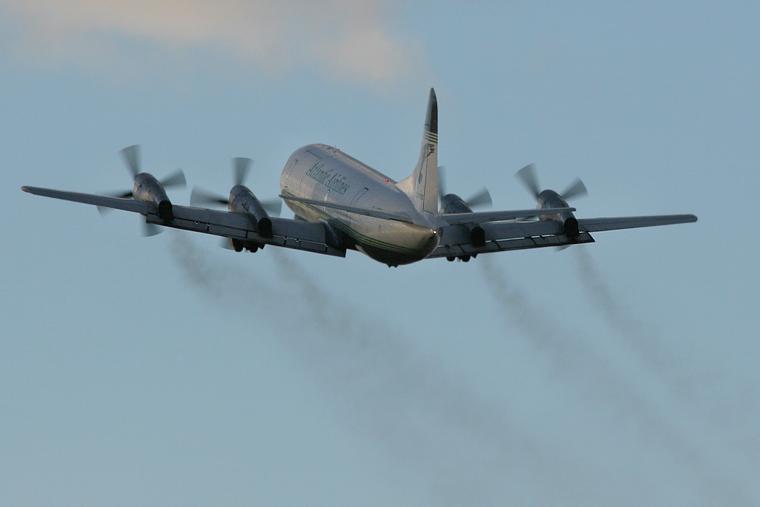 G-LOFB - Atlantic Airlines Lockheed L-188 Electra at