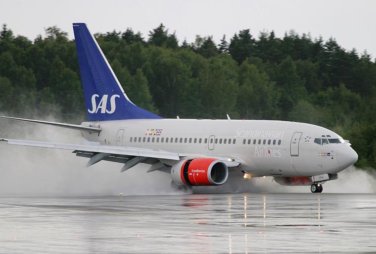 SAS - Scandinavian Airlines LN-RPW aircraft at Stockholm - Arlanda
