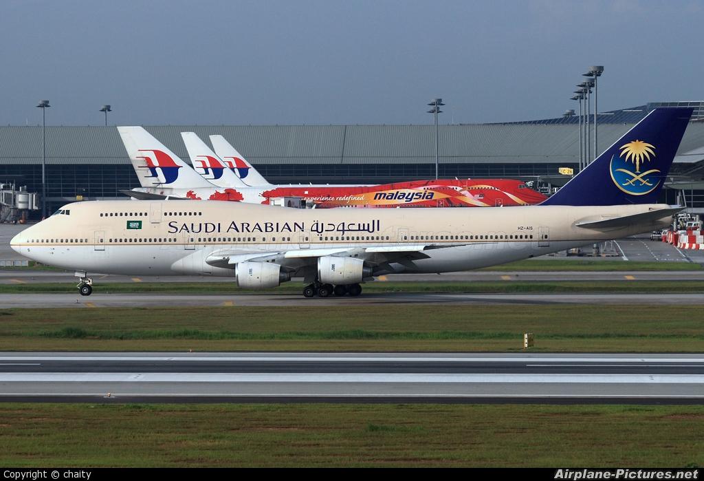 Saudi Arabian Airlines HZ-AIS aircraft at Kuala Lumpur Intl