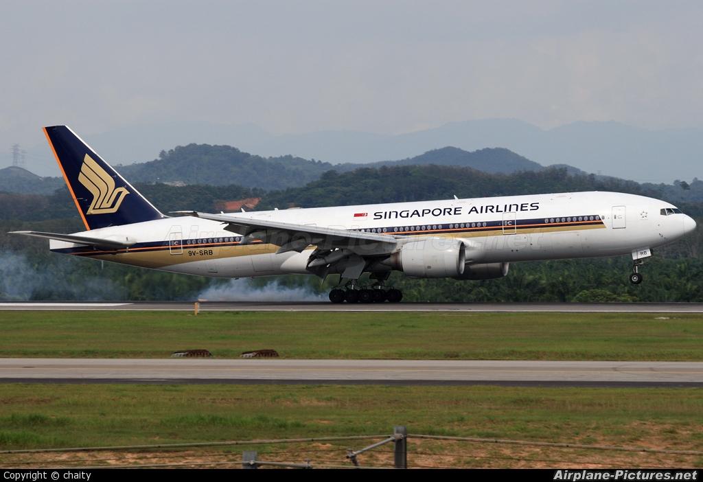 Singapore Airlines 9V-SRB aircraft at Kuala Lumpur Intl