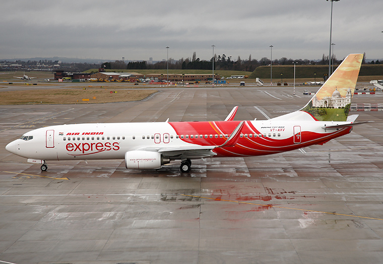 Air India Express VT-AXV aircraft at Birmingham