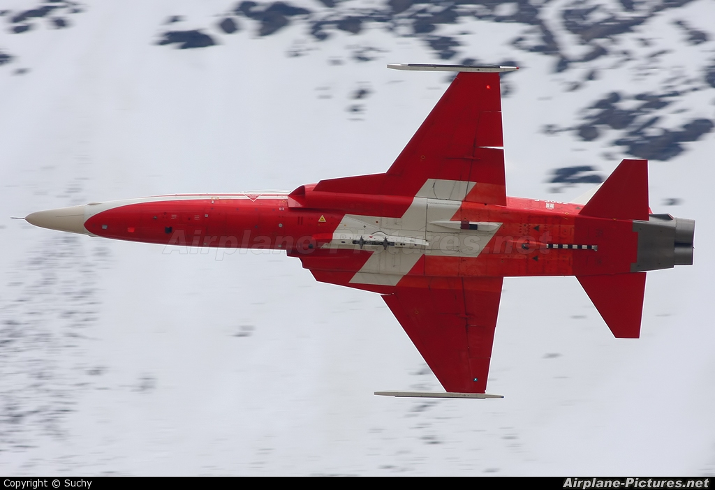 Switzerland - Air Force:  Patrouille de Suisse J-3082 aircraft at Axalp - Ebenfluh Range