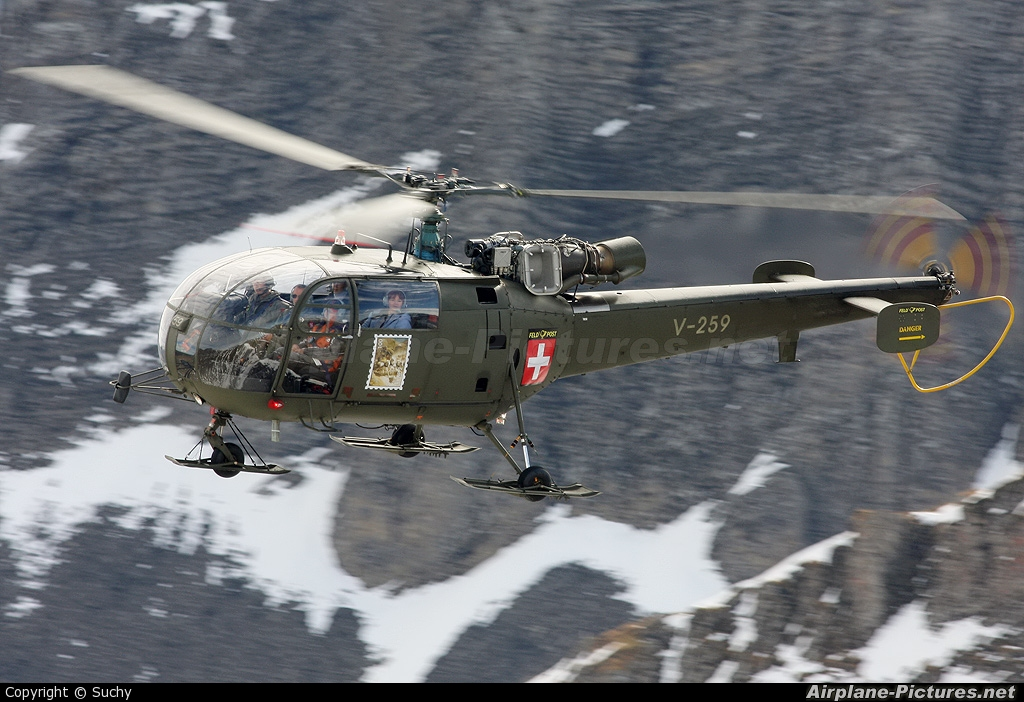 Switzerland - Air Force V-259 aircraft at Axalp - Ebenfluh Range