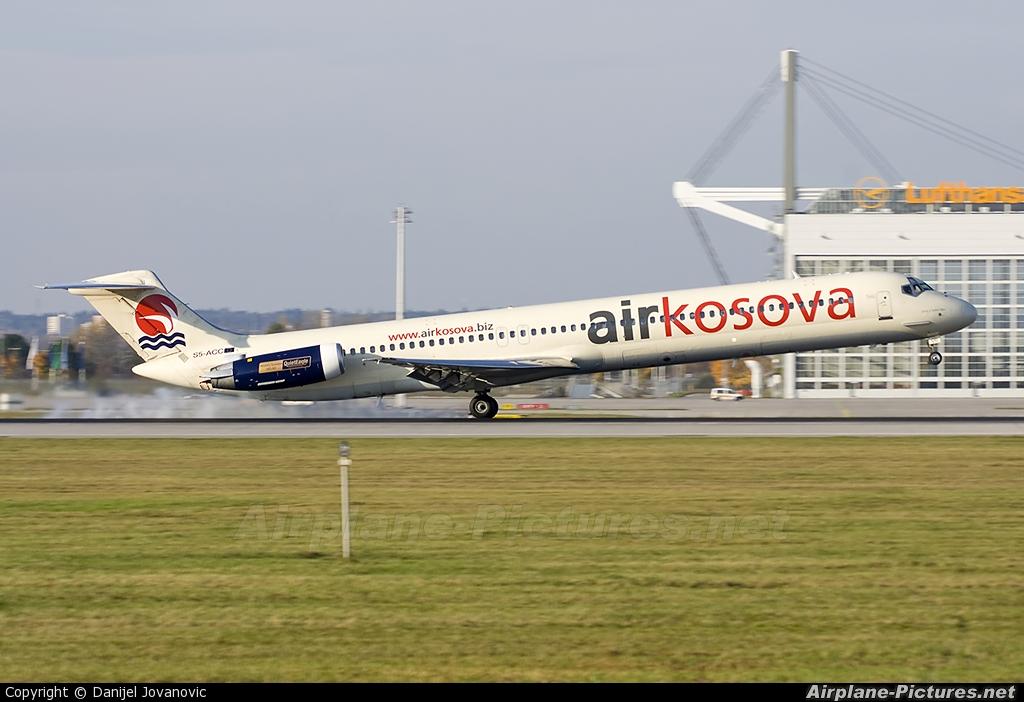 Air Kosova S5-ACC aircraft at Munich