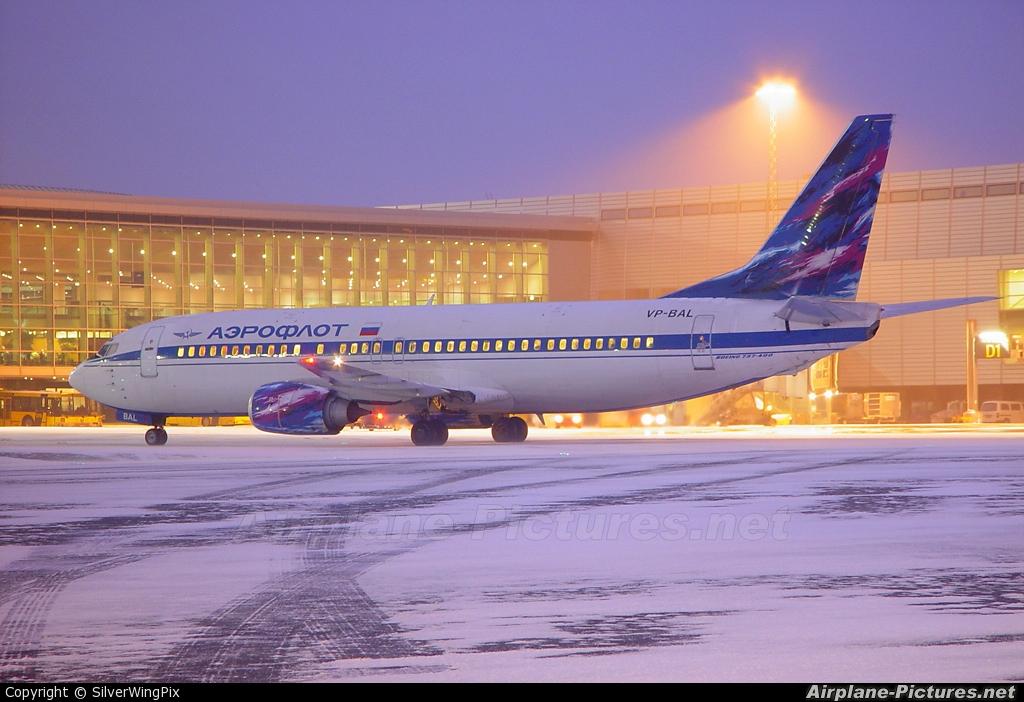 Aeroflot VP-BAL aircraft at Copenhagen Kastrup
