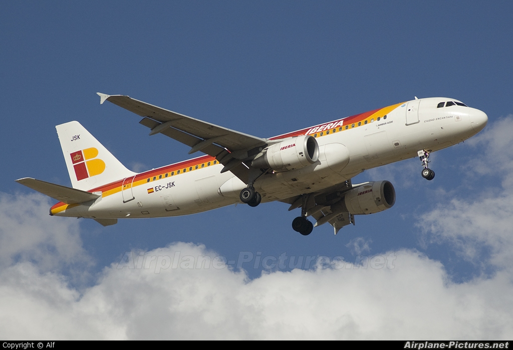 Iberia EC-JSK aircraft at Madrid - Barajas