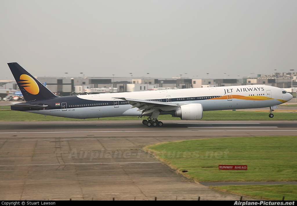 Vt Jee Jet Airways Boeing 777 300er At London Heathrow