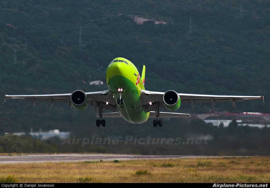 S7 Airlines VP-BTJ aircraft at Tivat