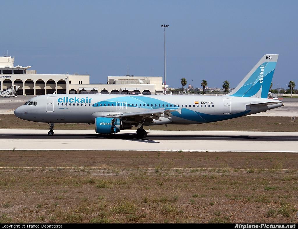 Clickair EC-HQL aircraft at Malta Intl
