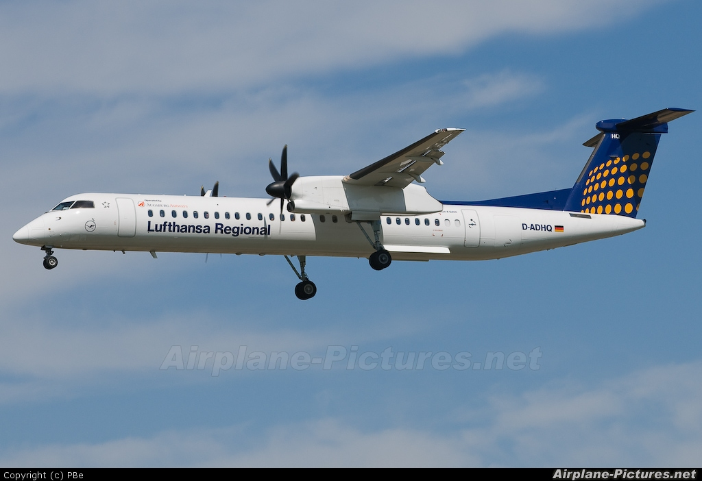 Augsburg Airways - Lufthansa Regional D-ADHQ aircraft at Prague - Václav Havel