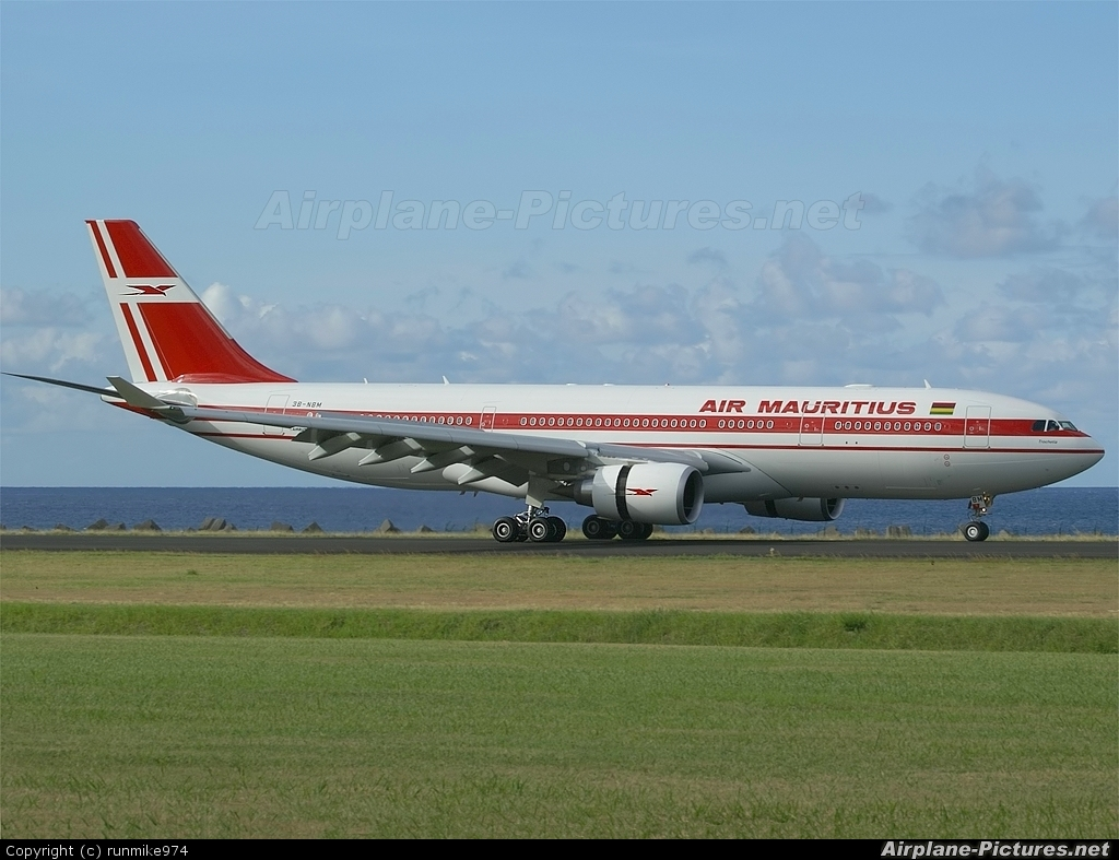 Air Mauritius 3B-NBM aircraft at Roland Garros - Saint-Denis