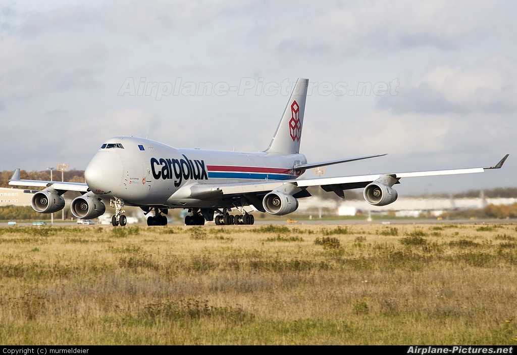 Cargolux LX-UCV aircraft at Luxembourg - Findel