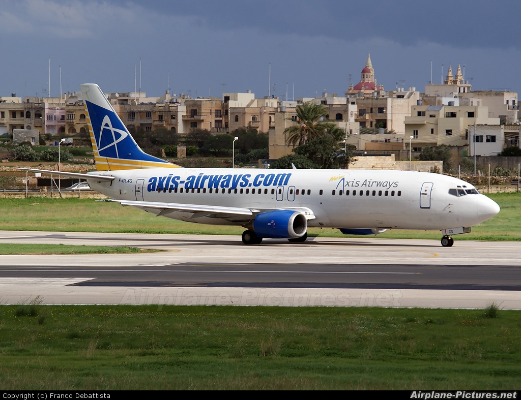 Axis Airways F-GLXQ aircraft at Malta Intl