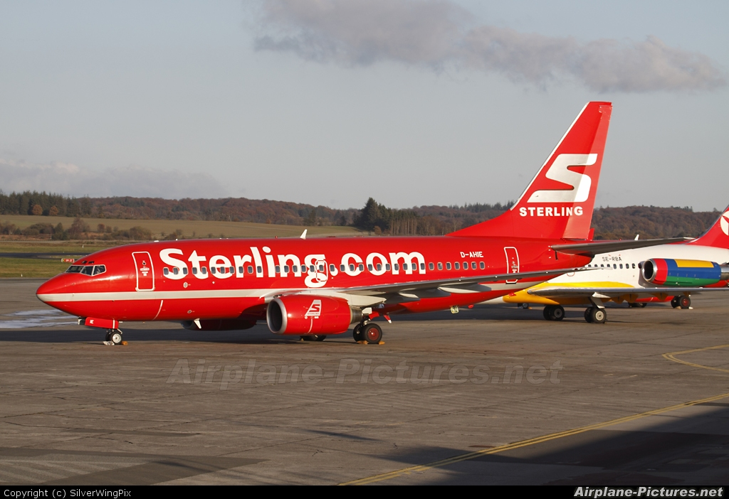 Sterling D-AHIE aircraft at Billund
