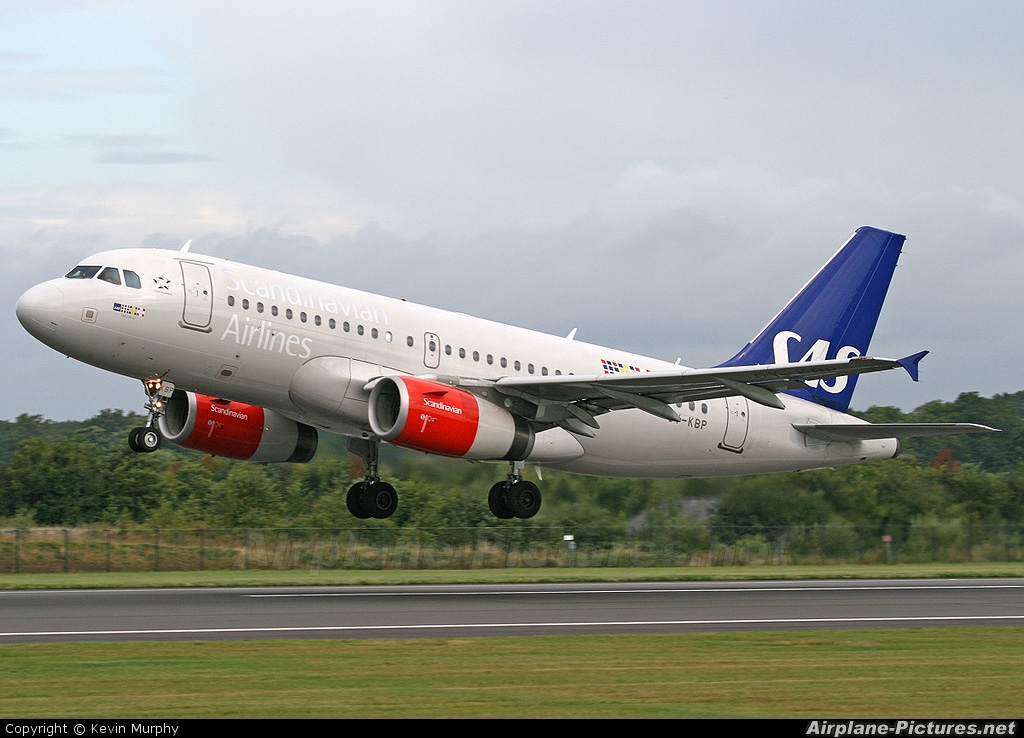 SAS - Scandinavian Airlines OY-KBP aircraft at Manchester