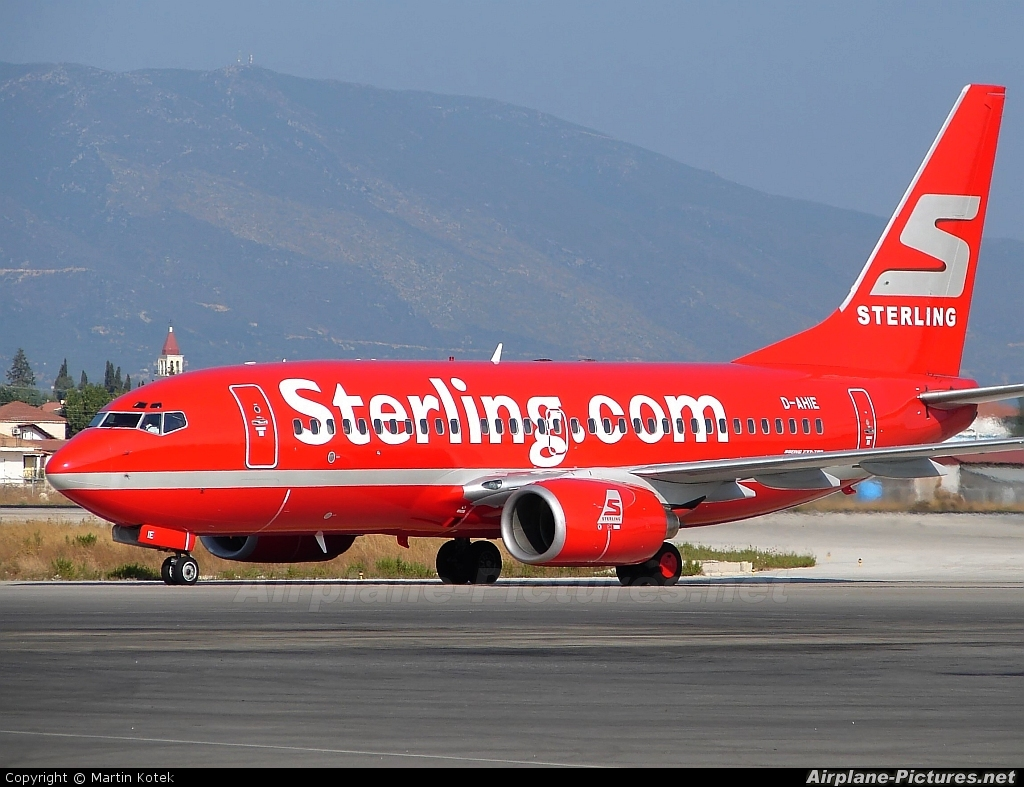 Sterling D-AHIE aircraft at Zakynthos