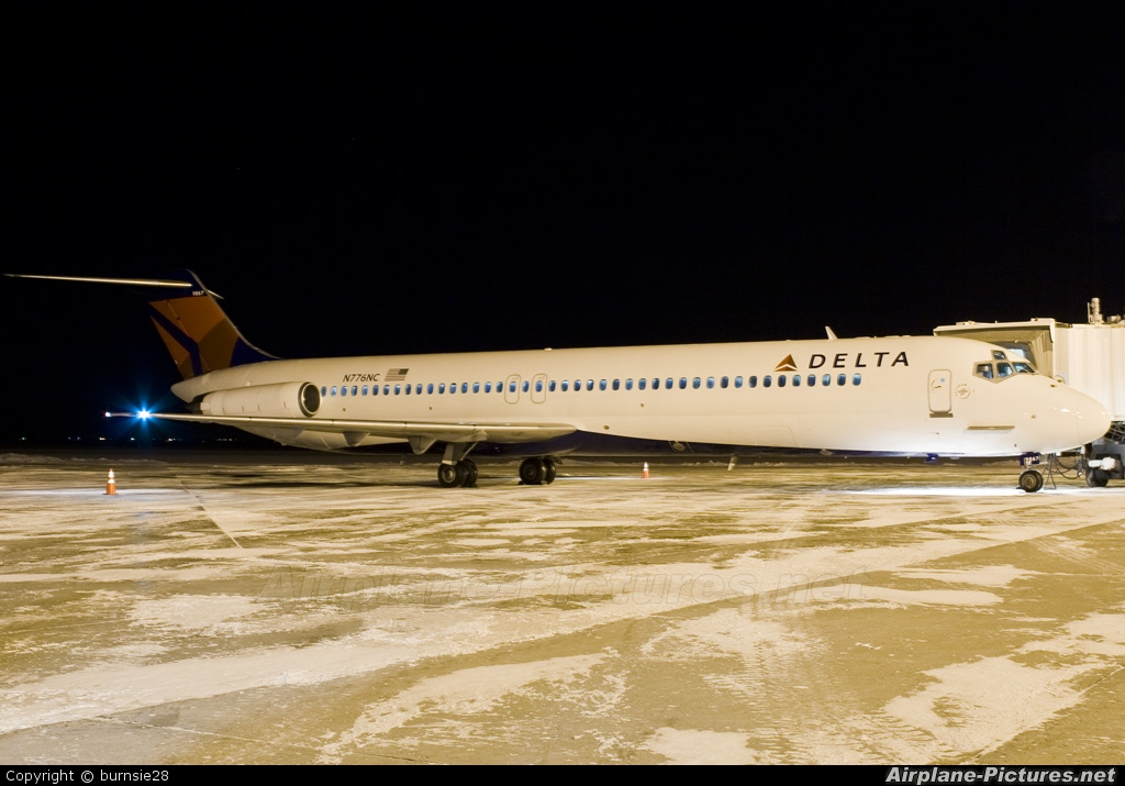 Delta Air Lines N776NC aircraft at Grand Forks Intl
