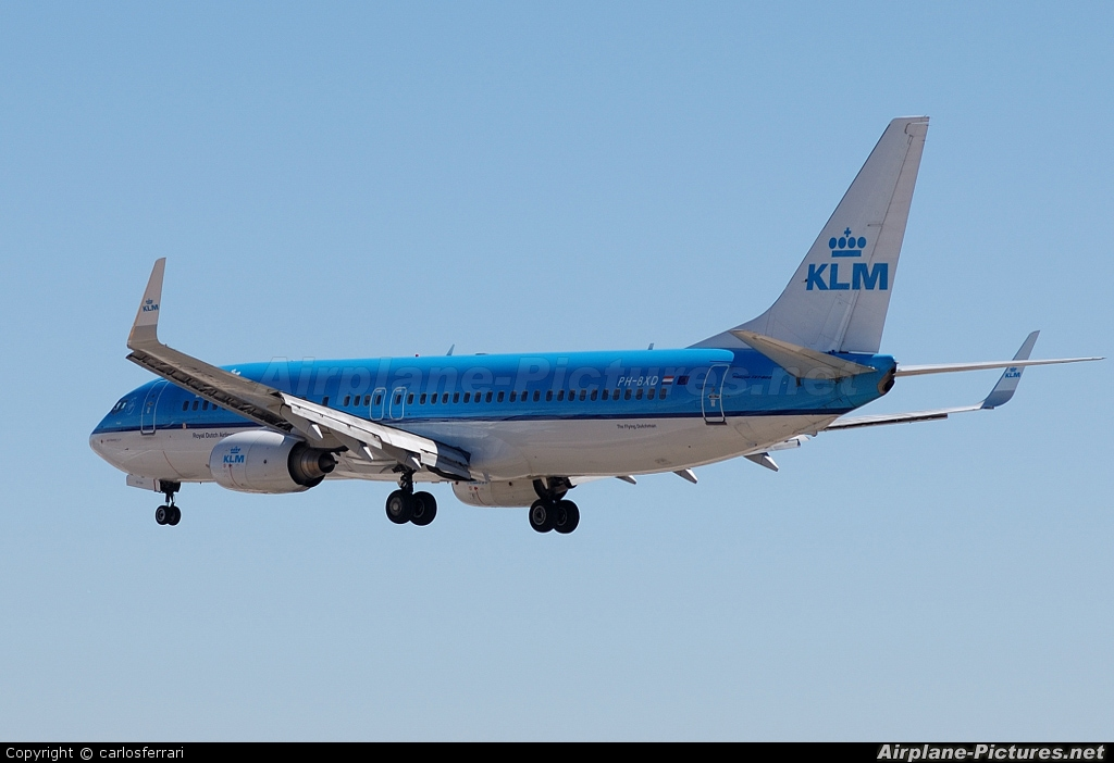 KLM PH-BXD aircraft at Lisbon