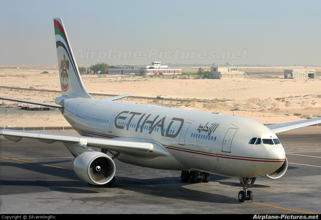 Etihad Airways A6-EYB aircraft at Abu Dhabi Intl