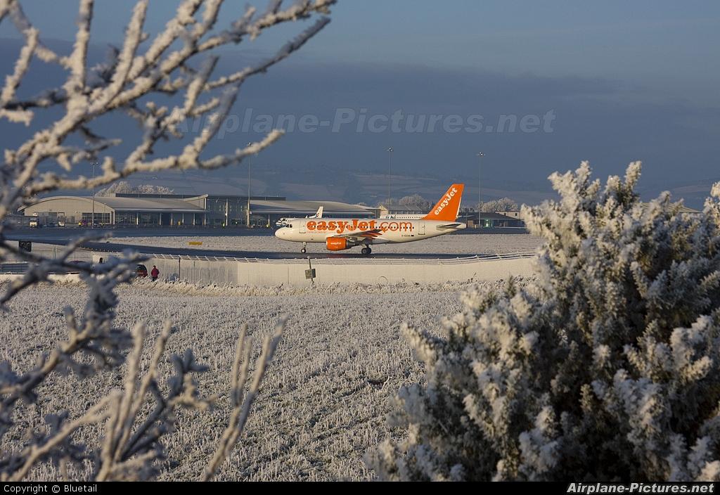 easyJet G-EZAA aircraft at Inverness