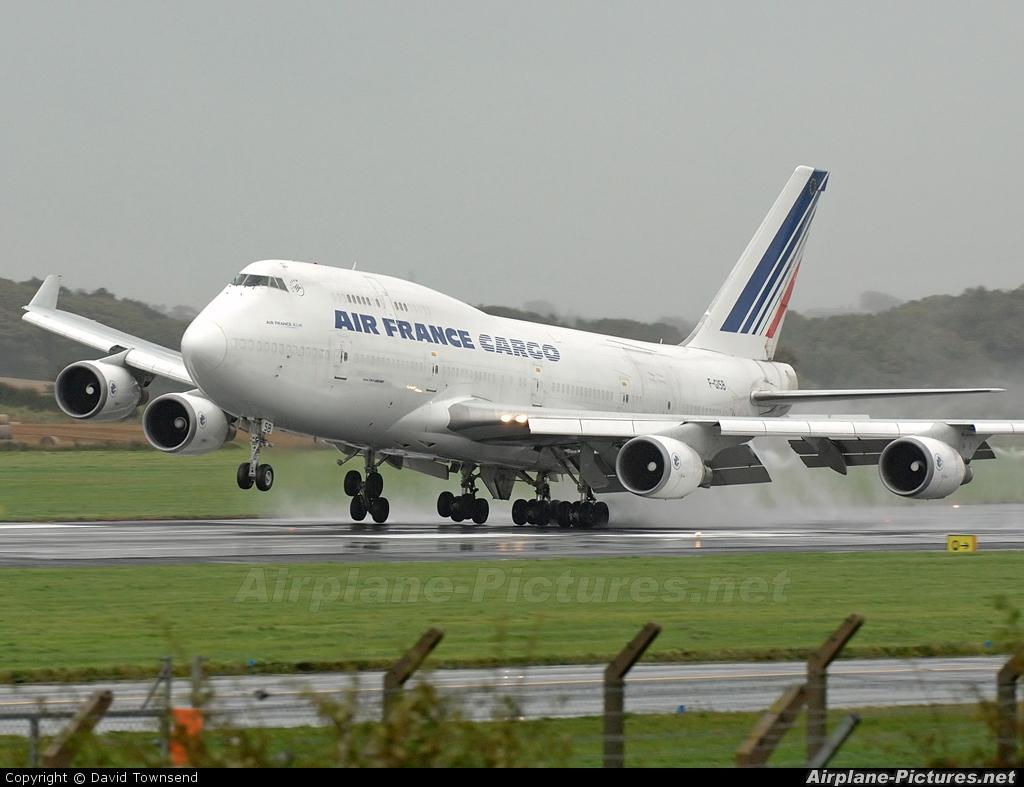 Air France Cargo F-GISB aircraft at Prestwick