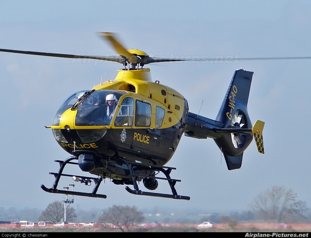 UK - Police Services G-WCAO aircraft at Cheltenham Racecourse Heliport