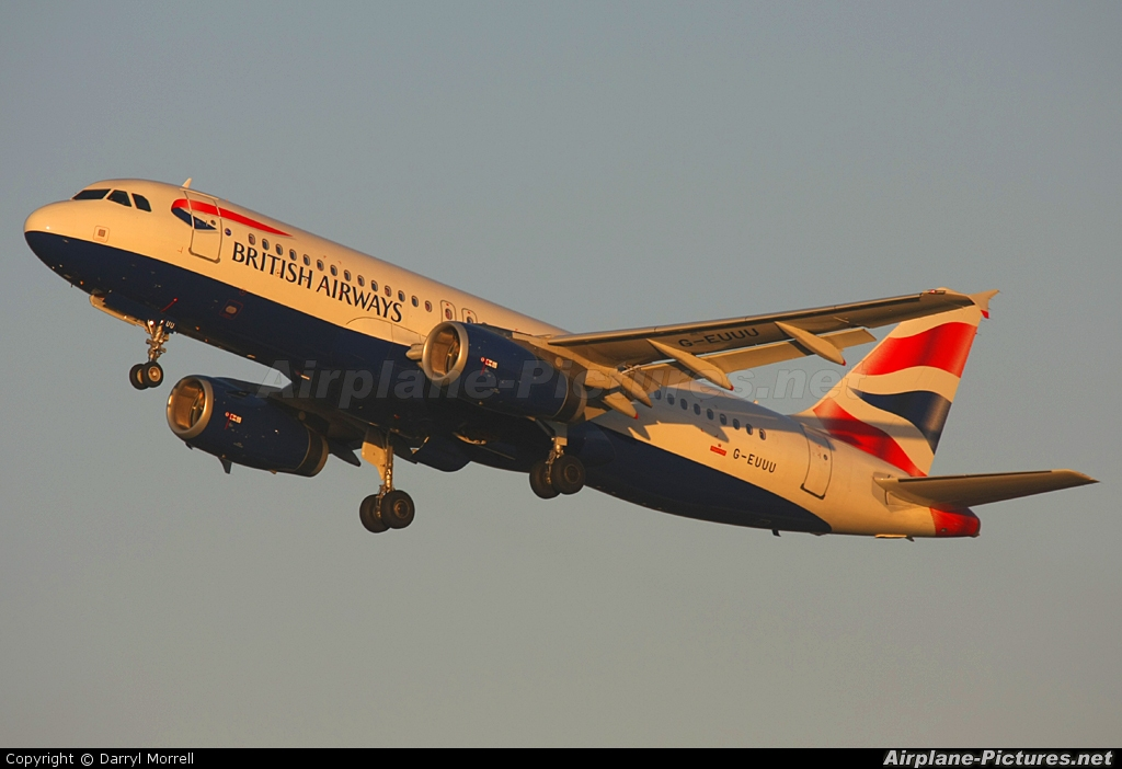 British Airways G-EUUU aircraft at London - Heathrow
