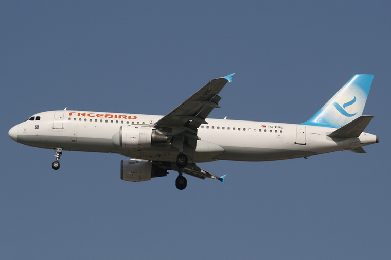FreeBird Airlines TC-FBE aircraft at Tel Aviv - Ben Gurion