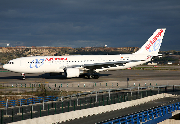 Air Europa EC-JQQ aircraft at Madrid - Barajas