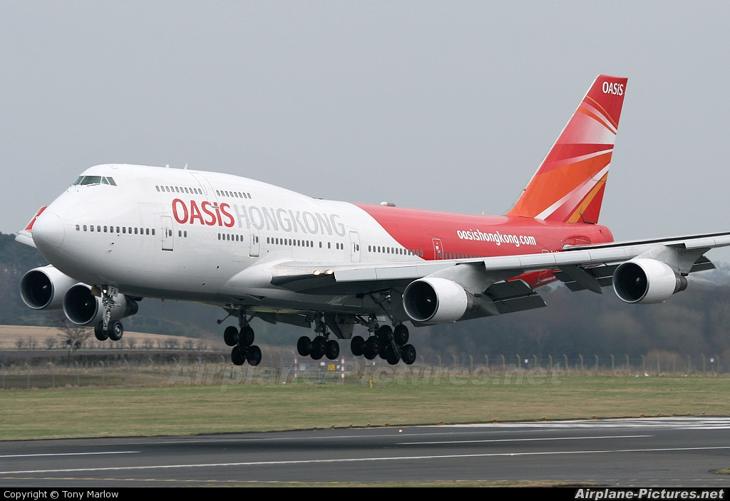 Oasis Hong Kong Airlines B-LFA aircraft at Prestwick
