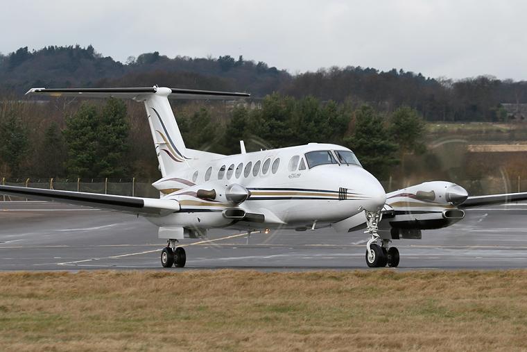 Private F-GVLB aircraft at Edinburgh
