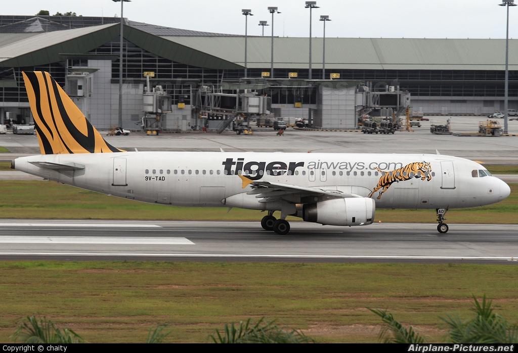 Tiger Airways 9V-TAD aircraft at Kuala Lumpur Intl