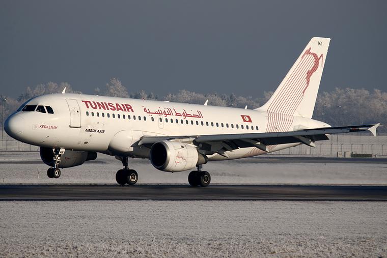 Tunisair TS-IMK aircraft at Munich