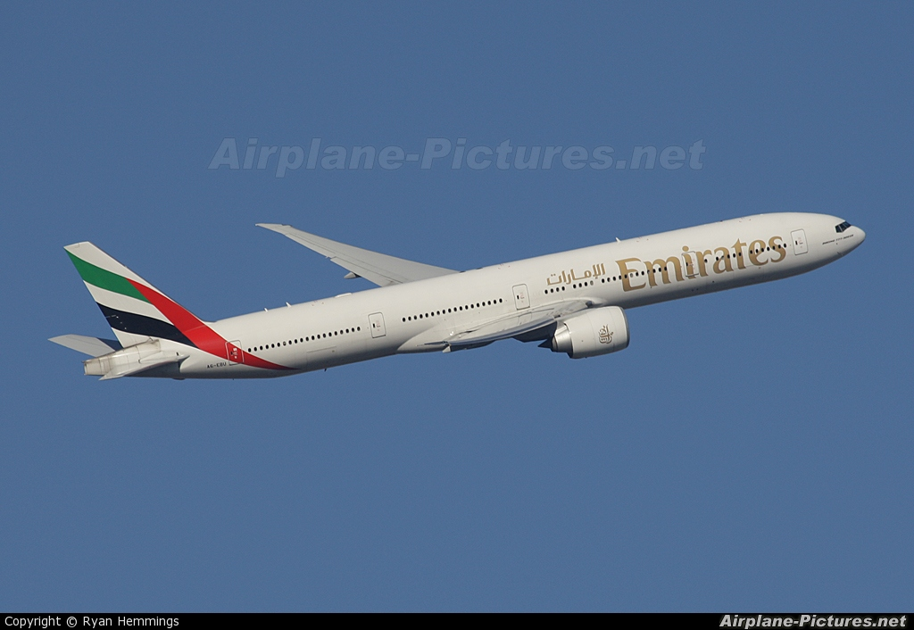 Emirates Airlines A6-EBU aircraft at London - Heathrow
