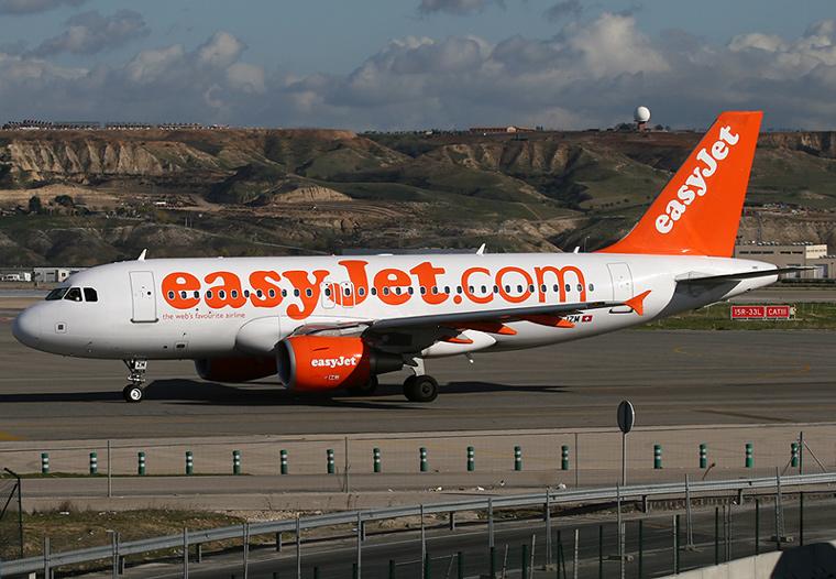 easyJet Switzerland HB-JZM aircraft at Madrid - Barajas