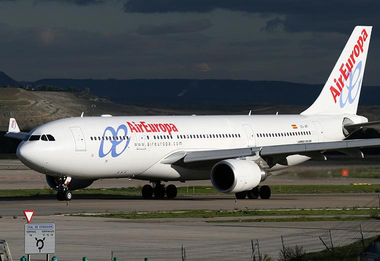 Air Europa EC-JPF aircraft at Madrid - Barajas