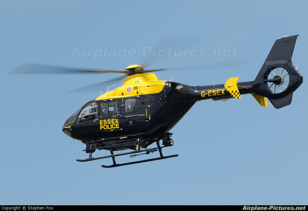 UK - Police Services G-ESEX aircraft at Southend