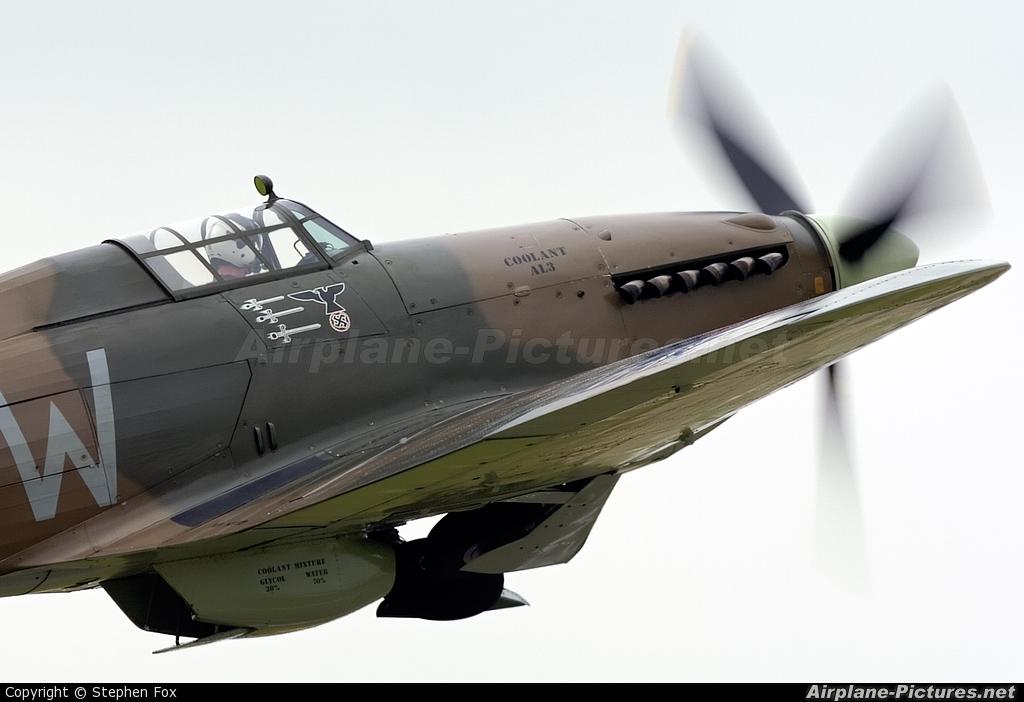 "Royal Air Force ""Battle of Britain Memorial Flight&quot LF363 aircraft at Fairford"