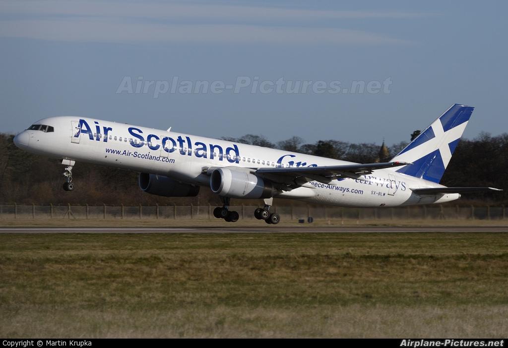 Air Scotland SX-BLW aircraft at Edinburgh