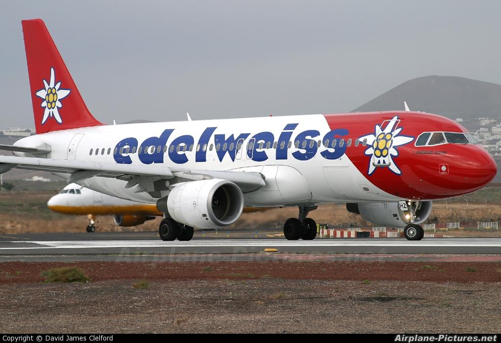 Edelweiss HB-IHZ aircraft at Lanzarote - Arrecife