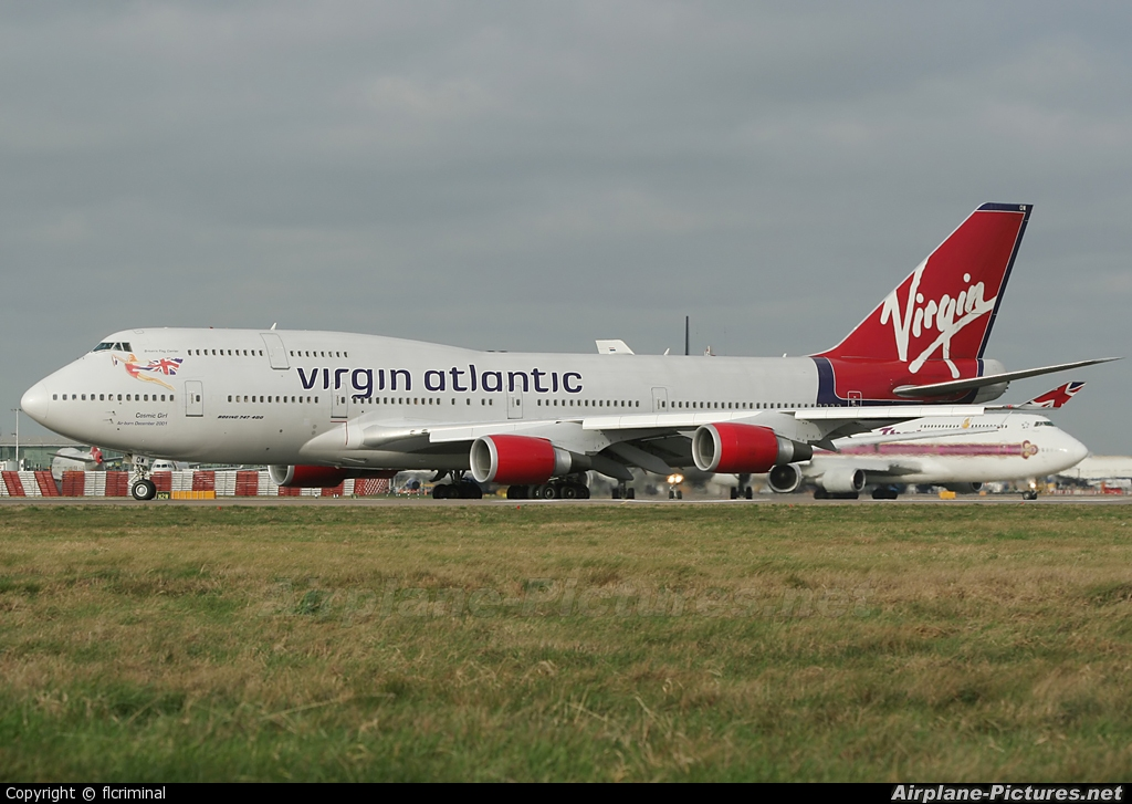 Virgin Atlantic G-VWOW aircraft at London - Heathrow